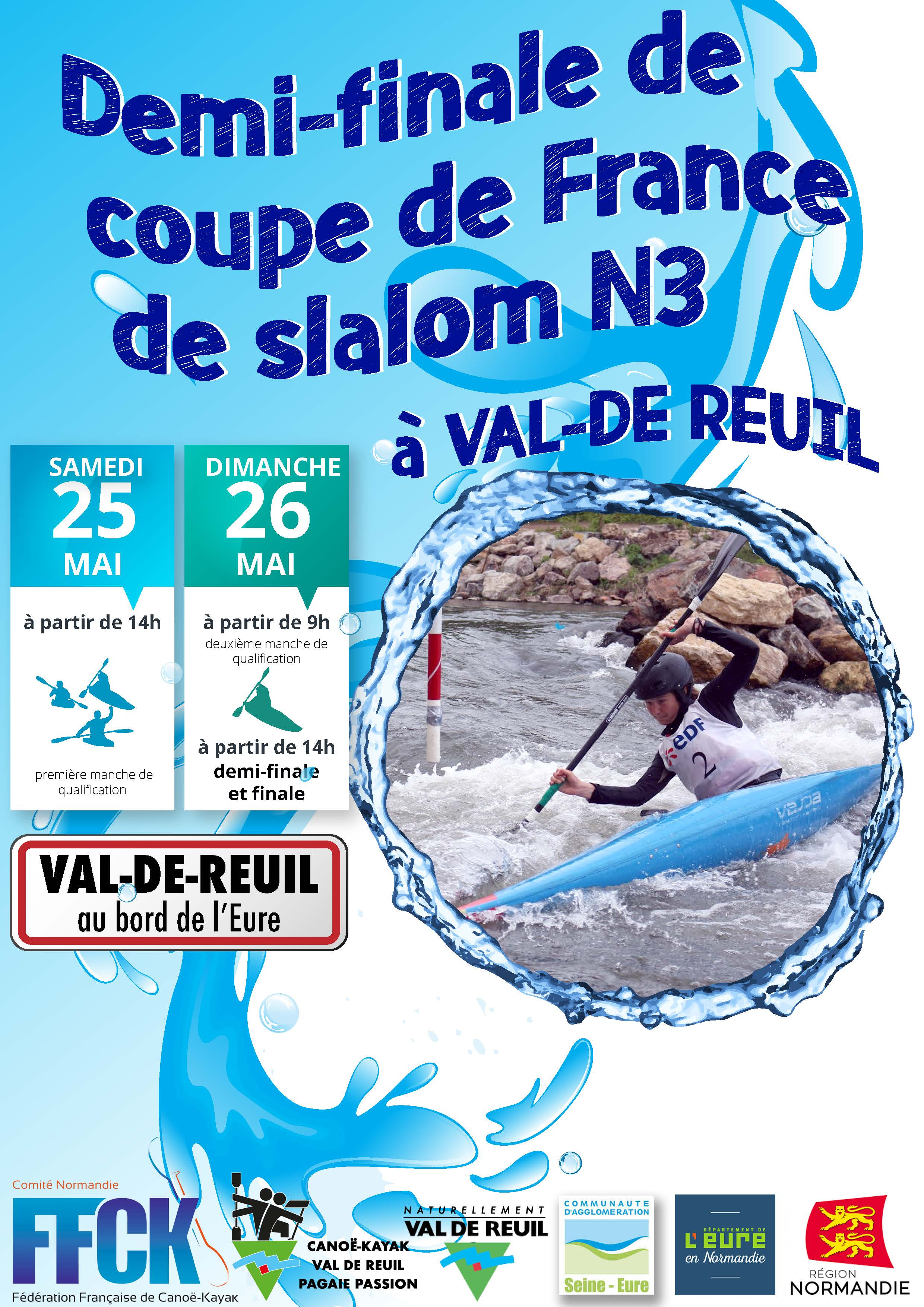 Affiche coupe de France slalom N3 kayak